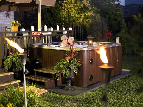 Romantic Evening with a Hydropool Hot Tub