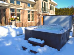 Winter warming hot tubs